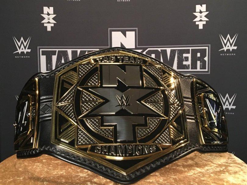new wwe nxt world tag team championship title belts 2017