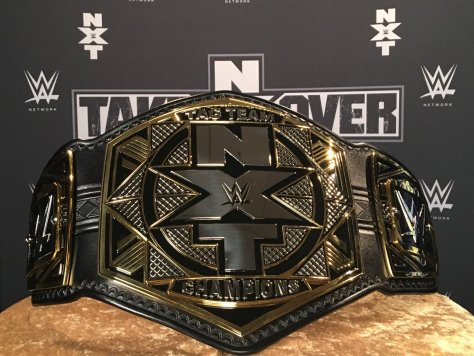 new wwe nxt world tag team championship title belts 2017