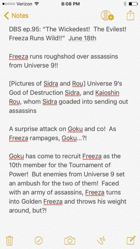 Dragon Ball Super Episode 95 The Wickedest The Evilest Freeza runs wild official preview from shonen jump magazine translated by herms SPOILERS part 1