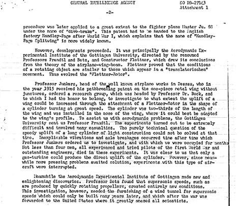 GERMAN SCIENTIST'S ARTICLE ON 'FLYING DISCS' (d) - Hidden CIA UFO files