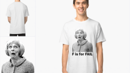 "Political christmas gif idea 01 - ""F is for Fail"" (Theresa May Satirical prints)"