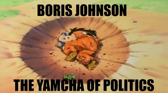 Boris Johnson - found dead in a ditch -Boris is the Yamcha of british Politics! #Brexit #StopBrexit #flextention