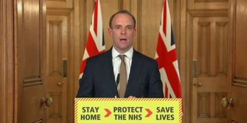 Dominic Raab - UK Lockdown may last another three months!