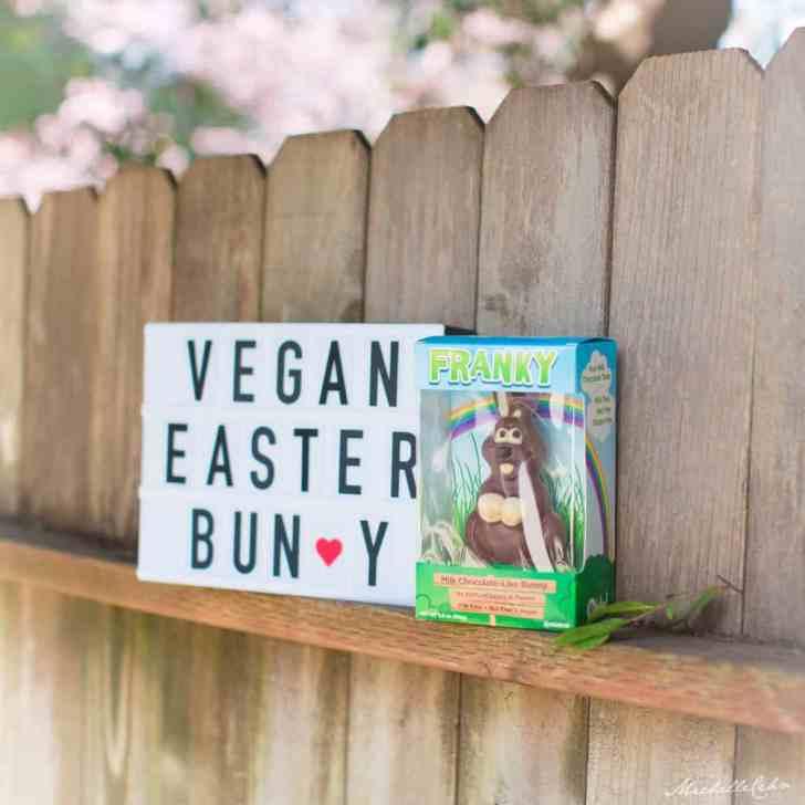 Vegan Chocolate Easter Bunny from No Whey Foods | WorldofVegan.com #vegan #easter #vegetarian #dairyfree #chocolate #holiday #spring #bunny