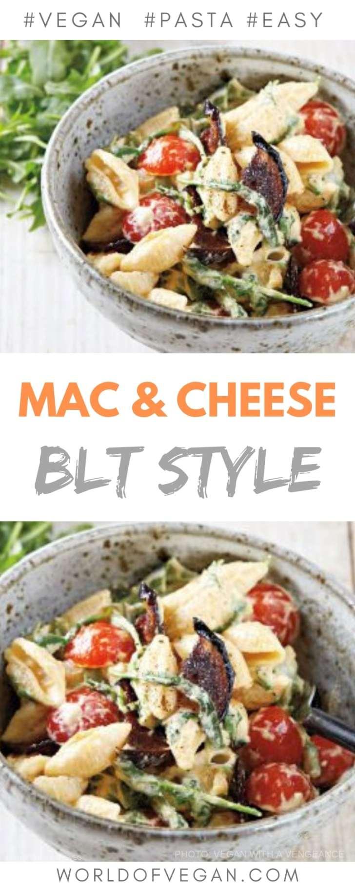 Vegan Mac and Cheese BLT Style | World of Vegan | #macandcheese #vegan #pasta #easy #dinner #recipe #worldofvegan