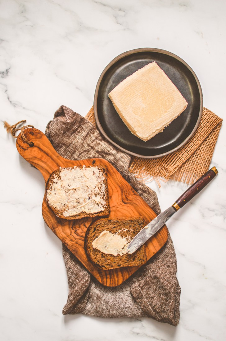 Photo of vegan butter and toast