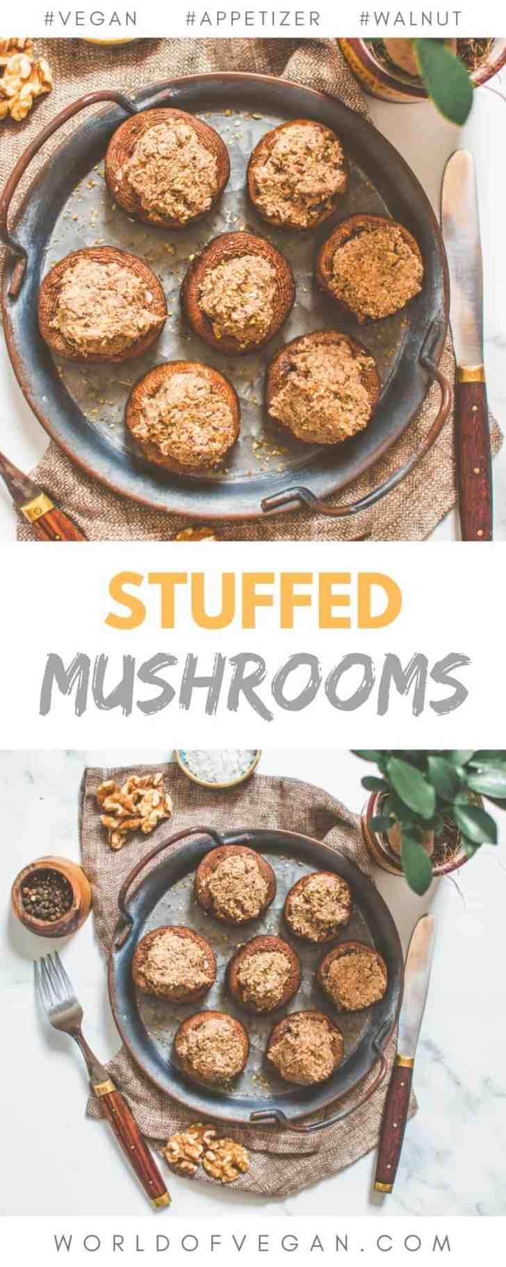 Vegan Stuffed Mushroom Recipe