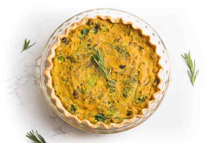 Easy Vegan Quiche Recipe   WorldofVegan.com   #vegan #recipe #quiche #tofu