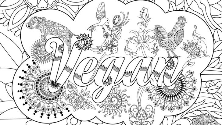 Color Your Stress Away With This Printable Vegan Zentangle