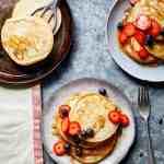 Easy Vegan Pancakes | What Vegans Eat Cookbook | WorldofVegan.com | #pancakes #breakfast #brunch #easyrecipes #vegan