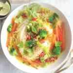 Thai Coconut Soup | Homemade Takeout Meal | WorldofVegan.com | #soup #coconut #curry #thai #cookbook #livb
