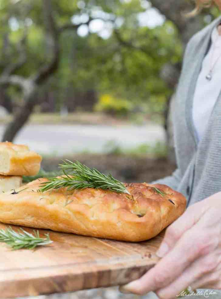 Easy Vegan Focaccia Bread | WorldofVegan.com | #vegan #focaccia #bread #recipe #homemade #food