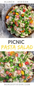 Fresh Picnic Pasta Salad Recipe | World of Vegan | #picnic #pasta #salad #lunch #outdoors #summer