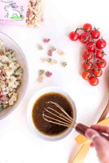 Vegan Pasta Salad Vinaigrette   WorldofVegan.com