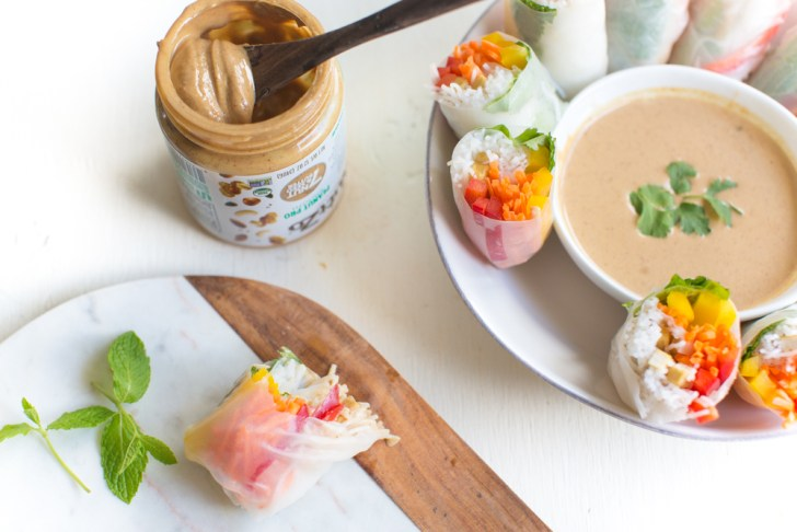 Peanut Dipping Sauce Recipe With Vegan Spring Rolls