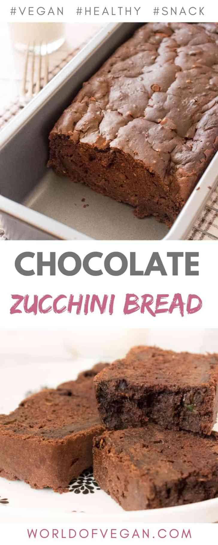 Vegan Chocolate Zucchini Bread   Easy Breakfast Recipe   #zucchini #chocolate #bread #vegan #dessert #breakfast #recipe #worldofvegan