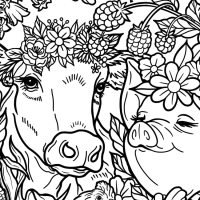 Printable Vegan Coloring Page—A Mindfulness Activity for Kids!