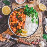 Vegan Chickpea Stew | World of Vegan | #stew #chickpea #vegan #rice #bowl #dinner #worldofvegan