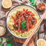 Vegan Teriyaki Vegetable Stir Fry | World of Vegan \ #teriyaki #vegetable #stirfry #vegan #noodles #ramen #worldofvegan