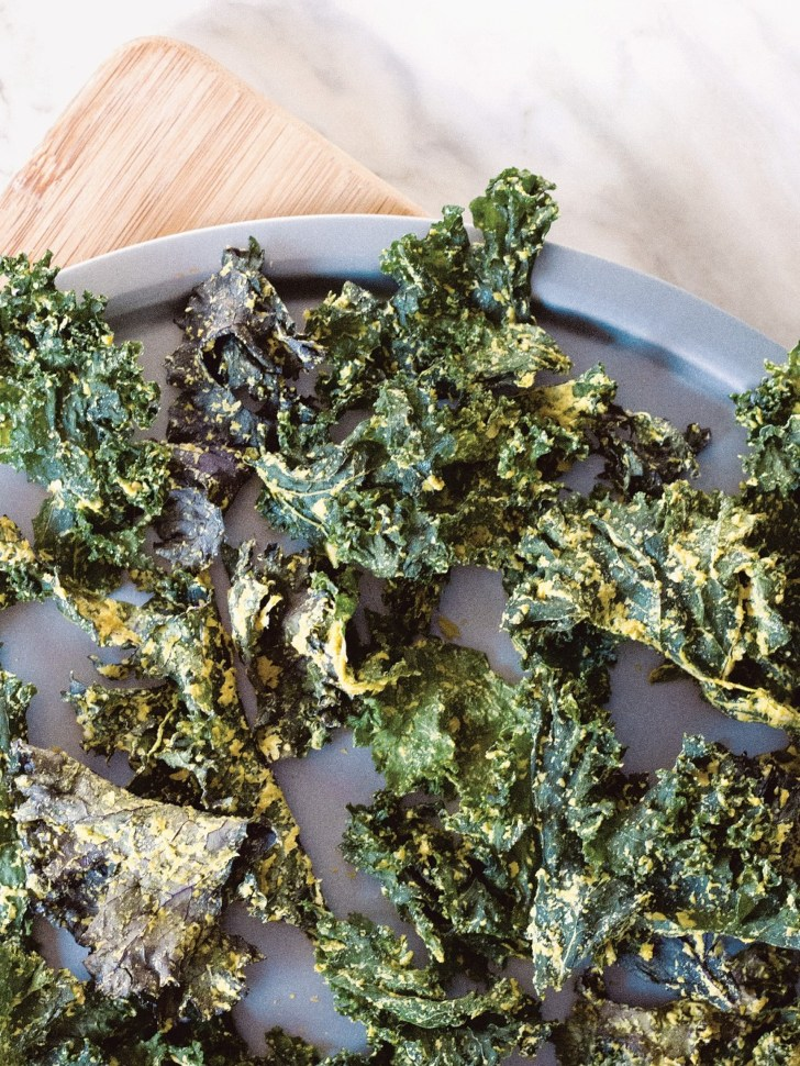 Cheezy Kale Chips Ready to Eat