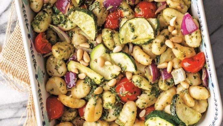 Vegan Pesto Gnocchi & Roasted Veggies
