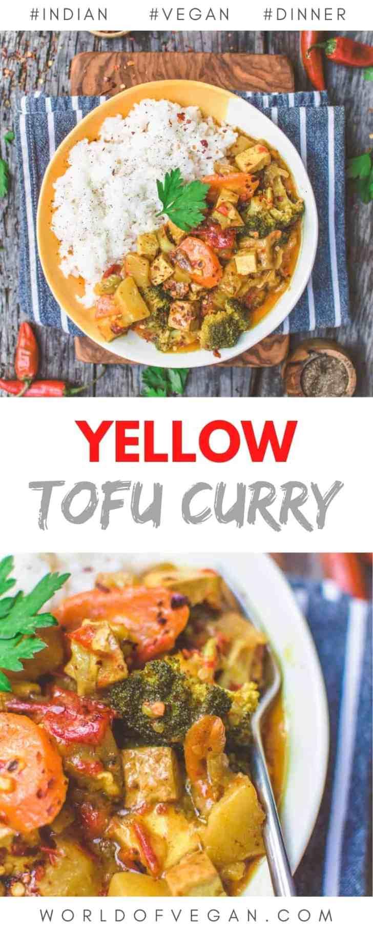 Yellow Tofu Curry Pin