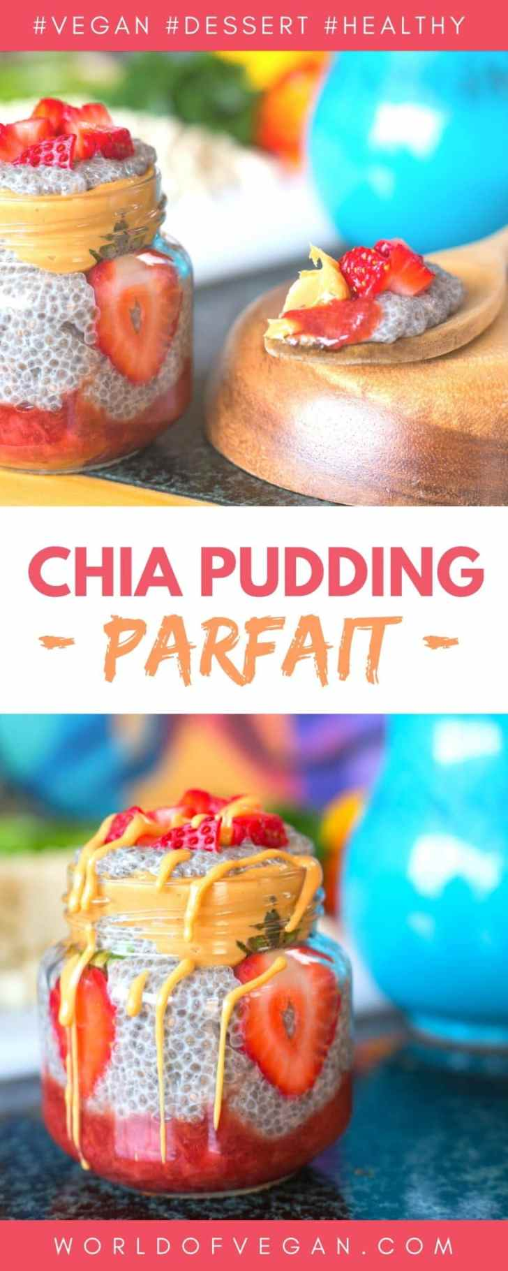 Vegan Chia Pudding Parfait With Strawberry Compote
