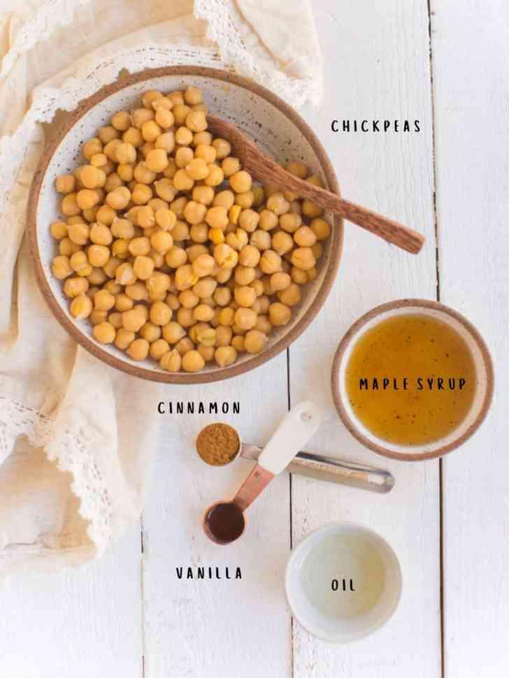 Maple Cinnamon Roasted Chickpeas Ingredients