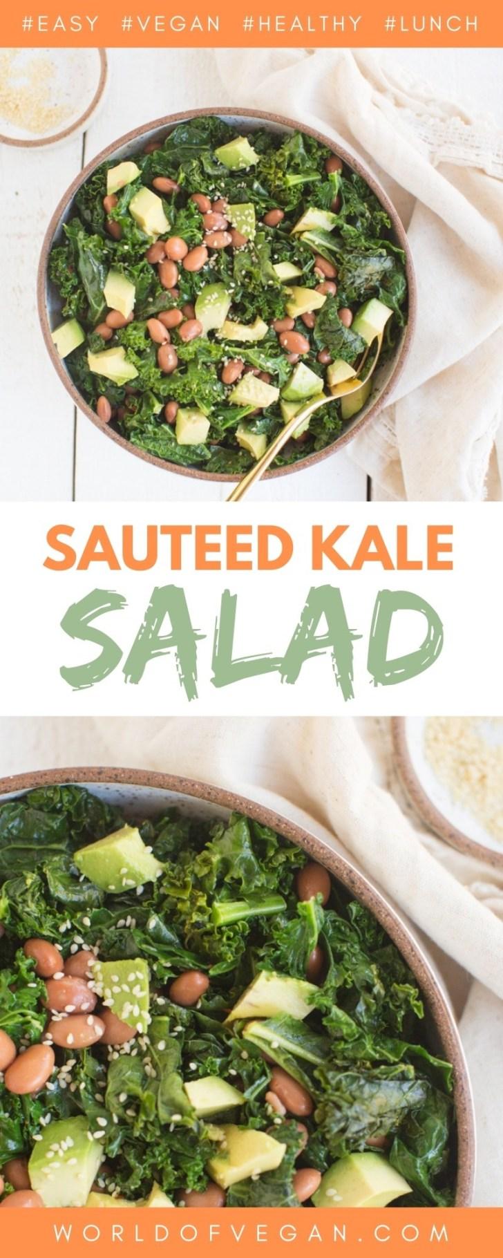Sauteed Kale and Avocado Salad