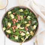 Sesame Sauteed Kale with Avocado