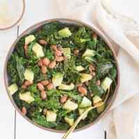 Sauteed Kale, Bean, & Avocado Salad