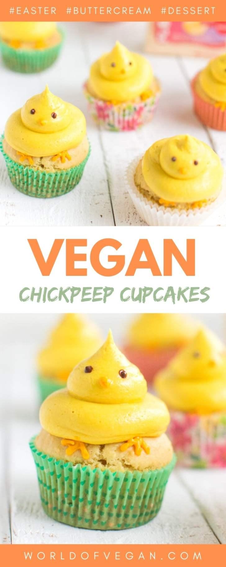 Lemon Buttercream Easter Vegan Cupcakes