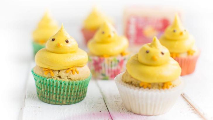 Vegan Easter Cupcakes With Lemon Buttercream Frosting