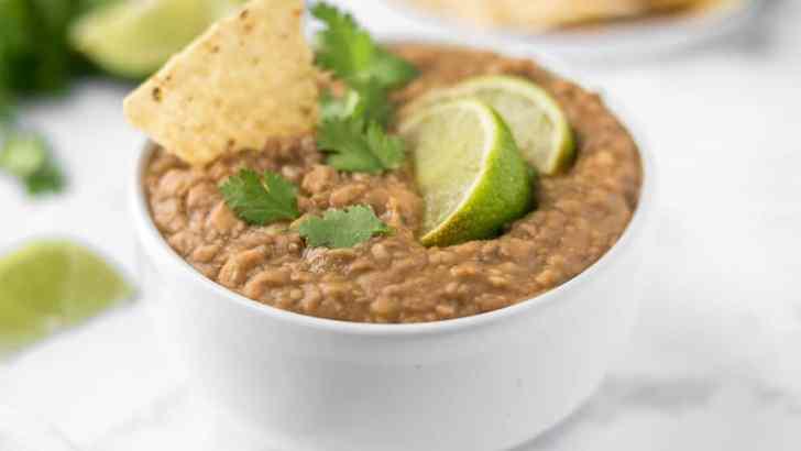 Vegan Crock Pot Refried Beans