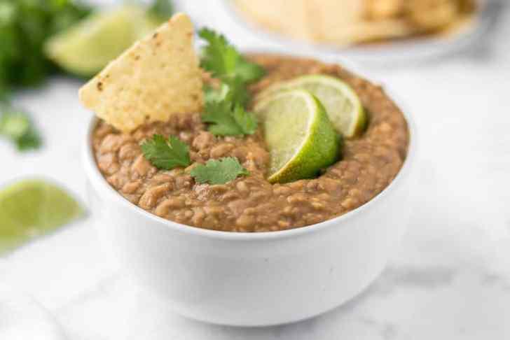Easy Slow Cooker Vegan Refried Beans
