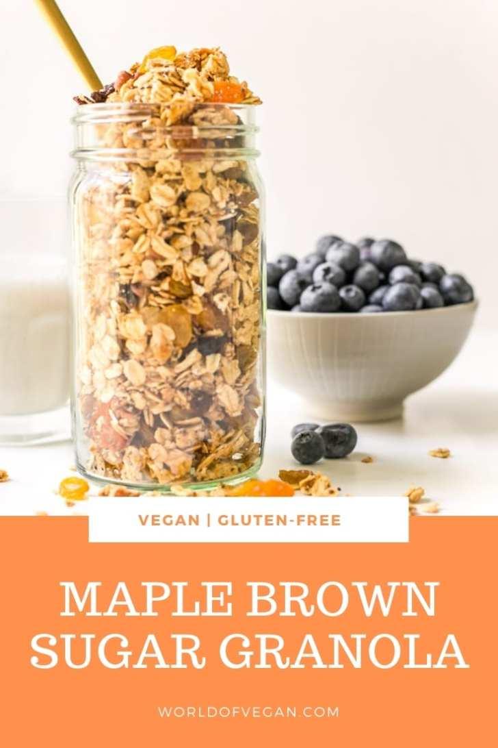 Easy Vegan Maple Brown Sugar Granola Breakfast Recipe