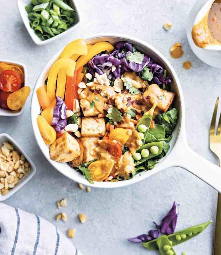 Vegan Thai Peanut Salad With Tofu Resized