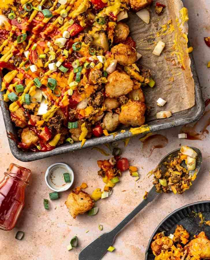 Vegan Tater Tot Sheet Pan Meal