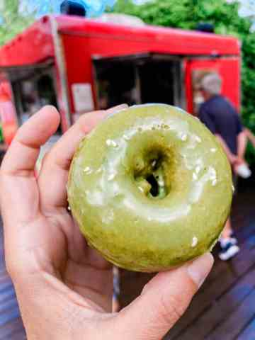 Holey Grail Donut from the vegan food truck in kauai north shore