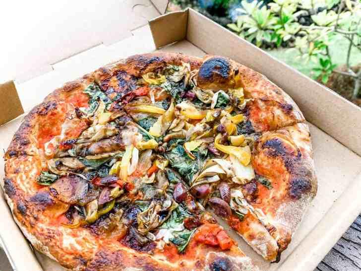 Vegan Pizza from Scorpacciata Food Truck in Kauaii