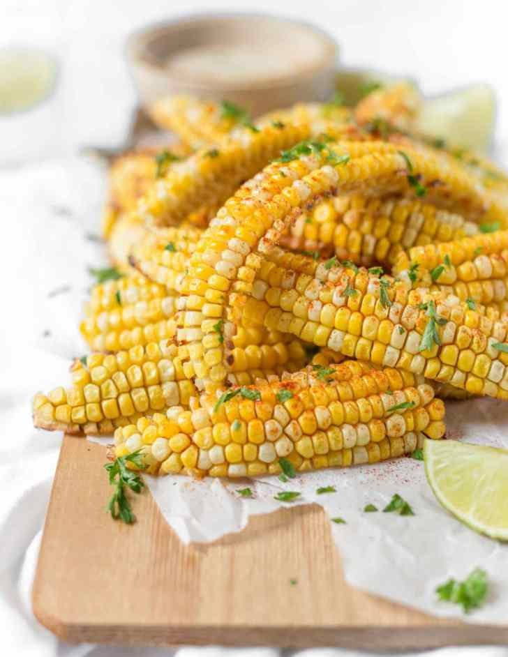Easy Vegan Air Fryer Corn Ribs Recipe
