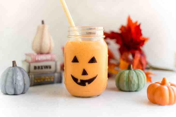 Jack O Lantern Vegan Halloween Smoothie