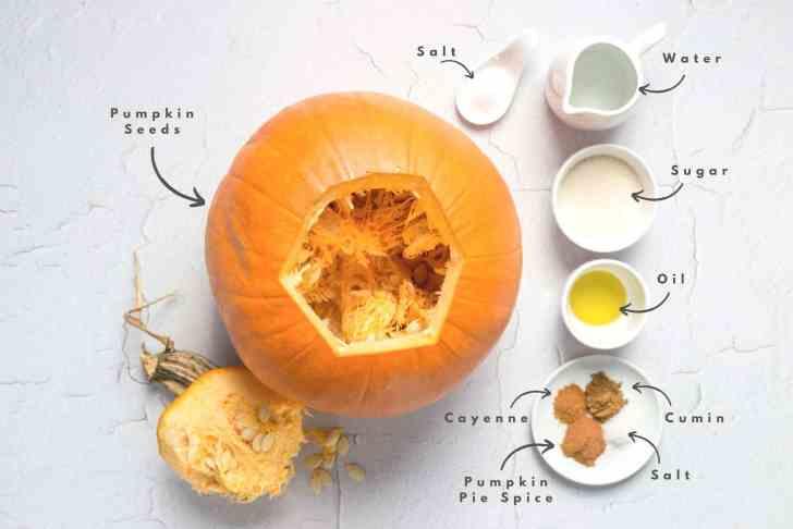 Pumpkin Spice Roasted Pumpkin Seeds Ingredients