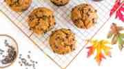 Vegan Pumpkin Muffins With Chocolate Chips