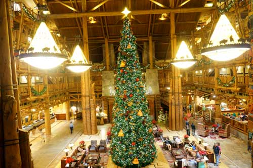 Amazing Christmas Decorations at Disneys Wilderness Lodge