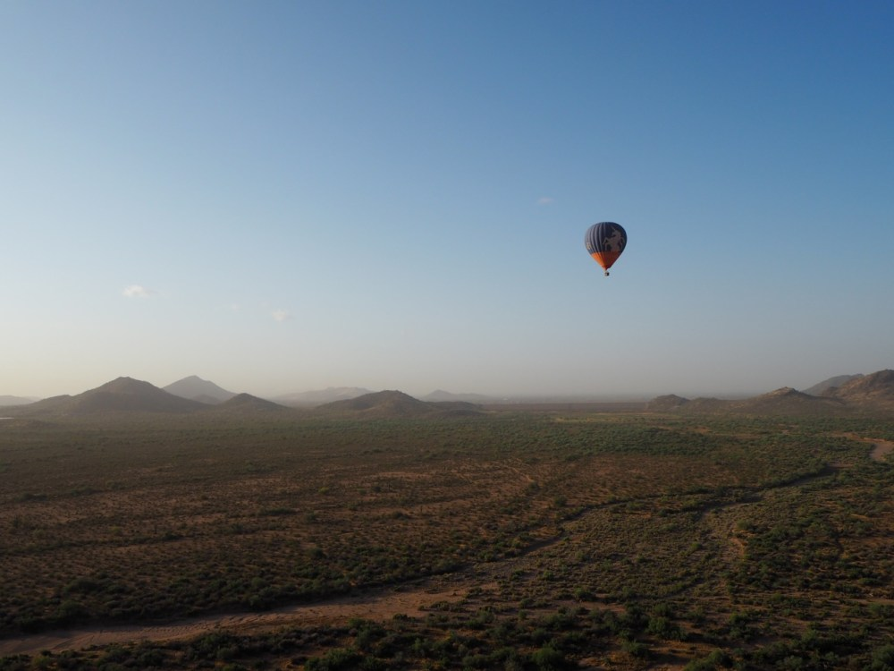 hot air balloon arizona
