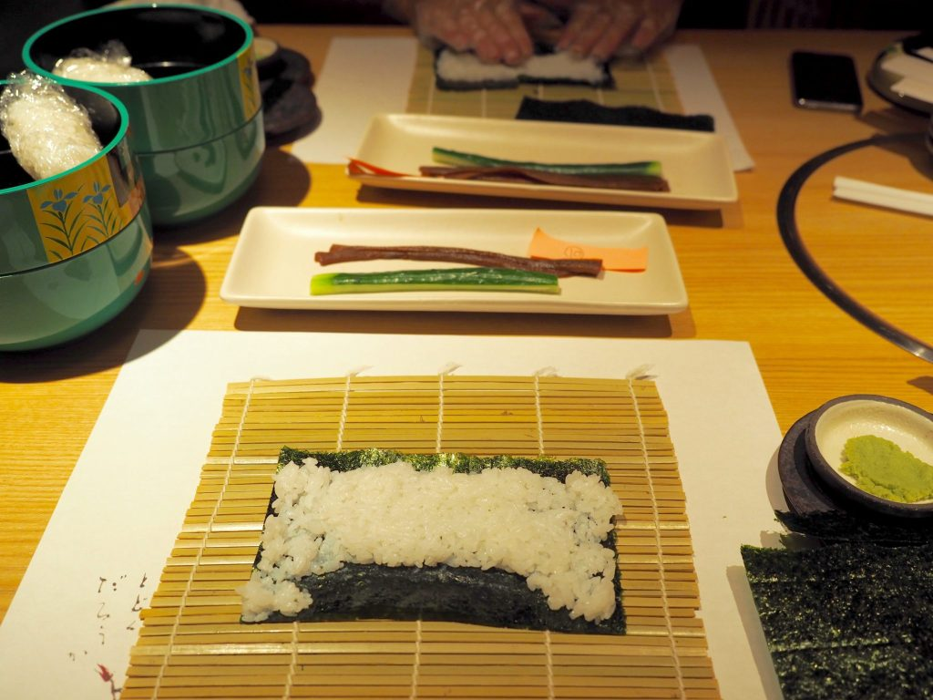 Sushi making class Tokyo