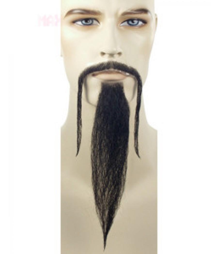 Fu Manchu Beard And Mustache Set