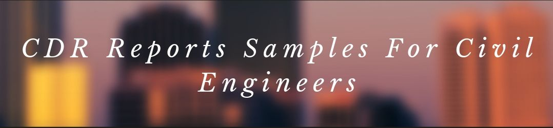 CDR Writing Reports Samples For Civil Engineers