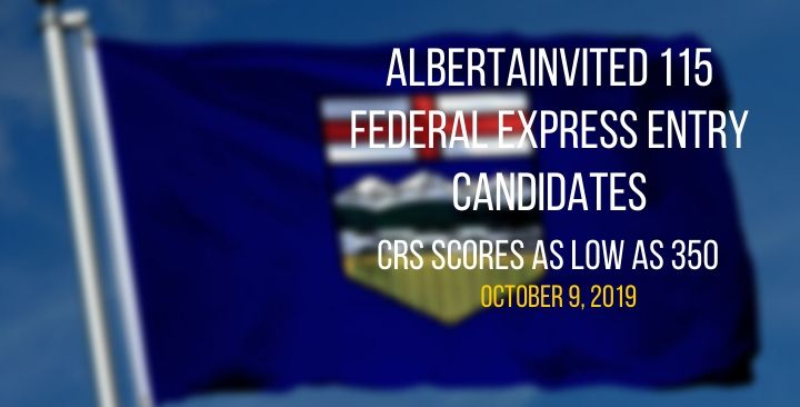 Alberta Express Entry candidates with CRS scores as low as 350